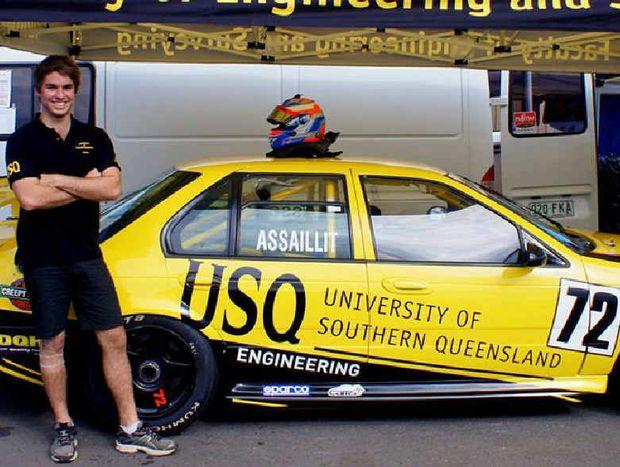 USQ student Nathan Assaillit is preparing to tackle next year's Kumho V8 Australian Touring Car Championship.