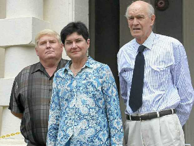 NOT HAPPY: Disgruntled East Toowoomba residents (from left) Ray Edser, Kate Powell and Jack Clarence.