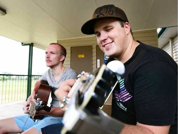 TUNED IN: Young Life Rosewood group leaders James Beutel (left) and Adam Hess are encouraging young people to join their evening youth hub.
