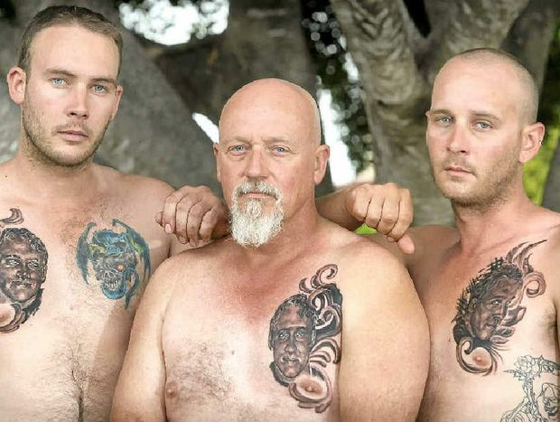 IN MOURNING: Brandon, Trevor and Josh Johnson.
