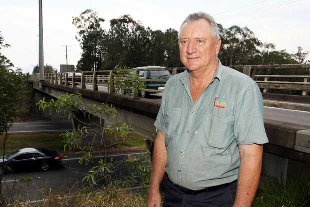 Farm Fantastic director Lance Blatchford at the entrance to the Pumicestone Road overpass. Photo Vicki Wood / Caboolture News