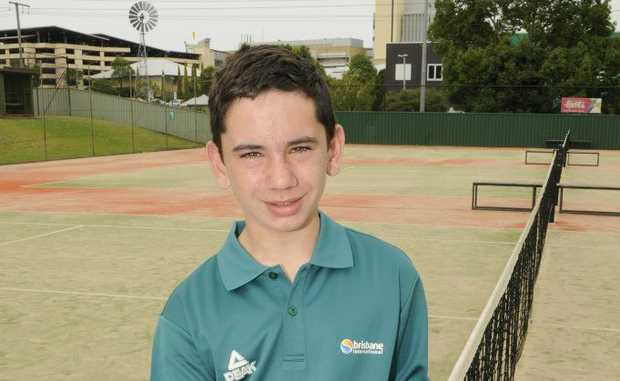 Jacob Currie is working at the Brisbane International as a ball kid for the second time.