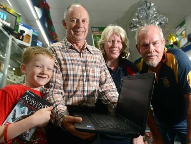 Jakai Duff, Tassie Duff, Diedri Shepherd and Jack Heffernan. Photo: John Gass / Daily News