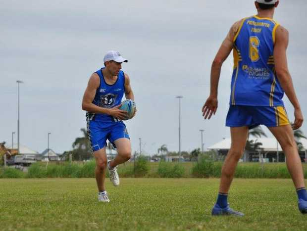 Club Captain Mitch Alexander runs the ball in a game against Parramatta. Photo: Contributed