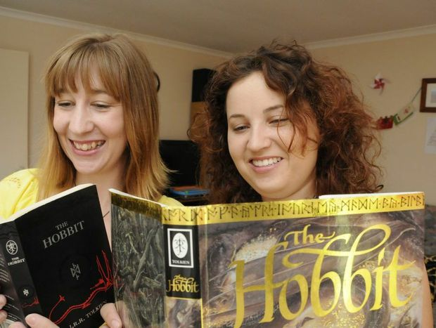 """Anita Baills and Lorilee Briggs excited that """"The Hobbit"""" will in cinema's later this week. Photo: Bev Lacey / The Chronicle"""