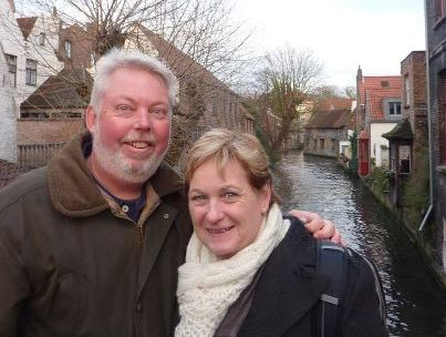 Bruce and Denise Morcombe enjoying a smile - and a holiday - after laying their Daniel to rest.
