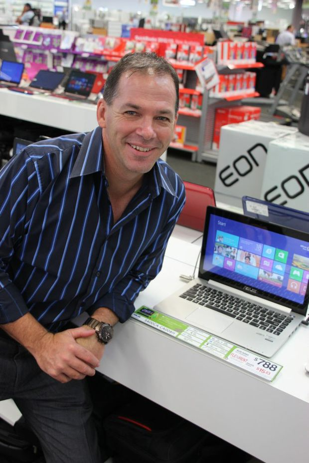 Harvey Norman Computers franchisee Jeff Byrd is prepared for a Boxing Day stampede.