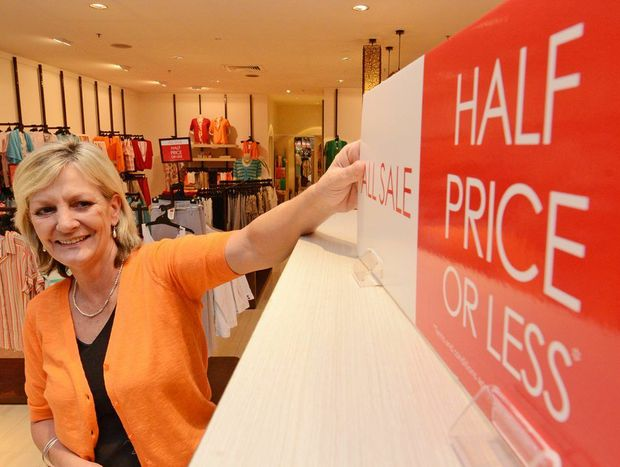 W Lane manager Sue Eagle was happy with the start of the boxing day sales at Tweed City Photo: Blainey Woodham / Daily News