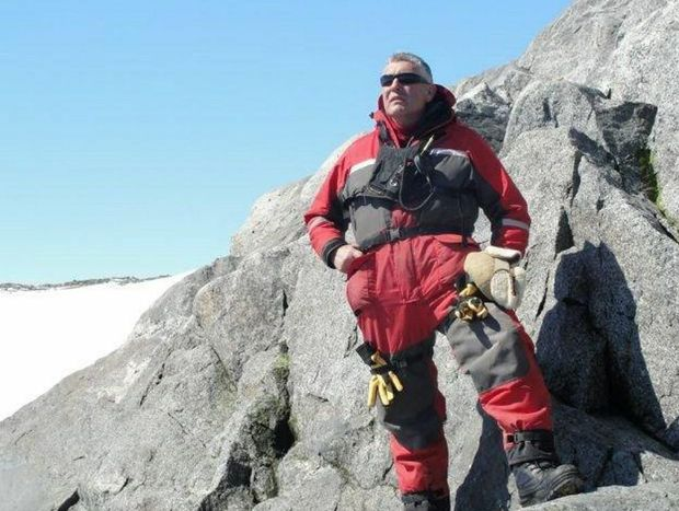 Allan Cooney of Toowoomba spent Christmas day in Antarctica.