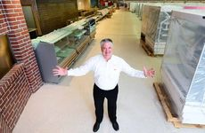 OPENING NEARS: Store manager Ken Lothian is excited that the new Ipswich CBD Coles is nearing completion.