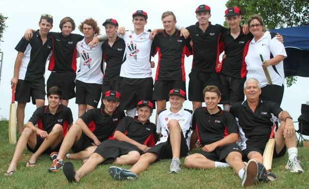 QUEENSLAND CRICKET CHAMPIONS: The Wide Bay under 16 cricket team celebrate after winning the State Junior Championships in Brisbane. The squad featured South Burnett juniors Sam Dennien, Simon Fairbairn, Lane Ferling and Stuart Robinson.