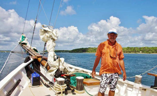 Robin Cooke on the deck of his dream boat The Joshua C.