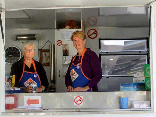 REFRESHING: Yelgun Driver Reviver volunteers Neroli Ford from Myocum and Jenny Batson from Mullumbimby.