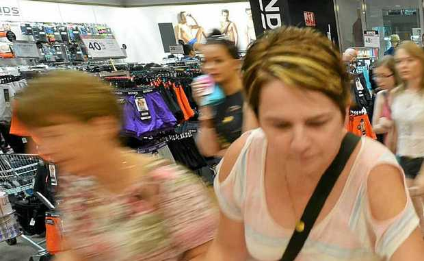 SHOPPERS in the Boxing Day sales at Myer in Sunshine Plaza.