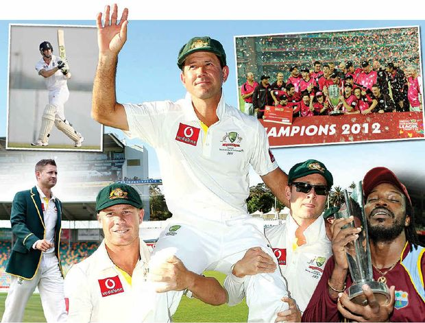 CLOCKWISE FROM TOP LEFT: Kevin Pietersen, Ricky Ponting, the Sydney Sixers, Chris Gayle and Michael Clarke.