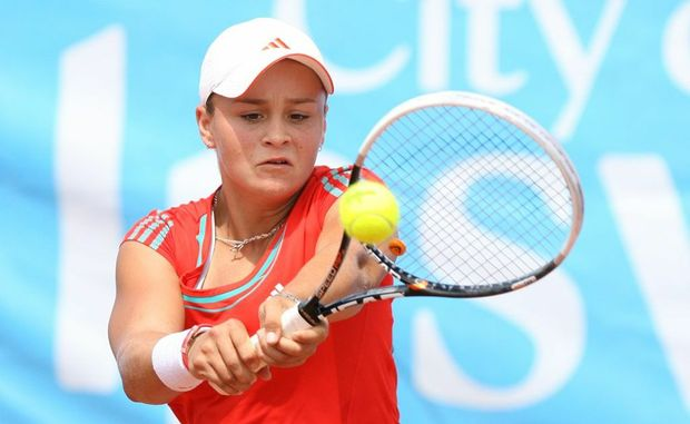 Ashleigh Barty taking part in the City of Ipswich tennis International at rhe George Alder Tennis Centre on Sunday. Ashleigh lost the final to Polish player Sandra Zaniewska. Photo: Rob Williams / The Queensland Times