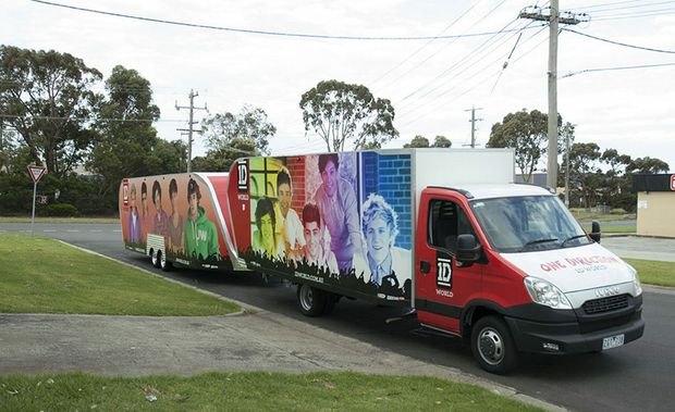 1D World, the official merchandise store for British boy band One Direction, is coming to Ipswich on New Year s Day as part of its east coast road trip. Photo: Contributed