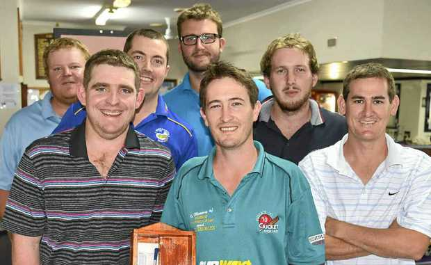 Geoff Thorley, Tim Sutton, Josh Nolan, Nat Beattie, Shaun O'Leary, Aaron McVeigh and David Sternberg played off for the Christmas Cabinet at the Warwick Golf Club on Sunday.
