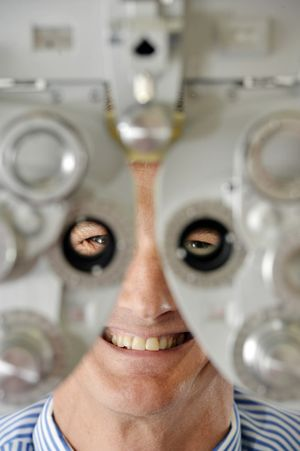Dr Andrew Apel offers corneal transplants in Ipswich. Photo: Claudia Baxter / The Queensland Times