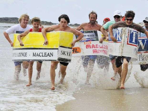 Contestants competing in the annual Maclean Lions Brooms Head Sports Day. Photo: Debrah Novak