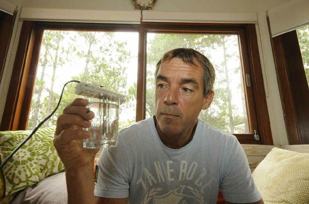 CLAIMS: Philip Jones with his colloidal silver maker.