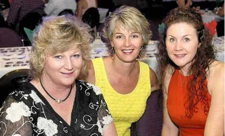 GIRLS' NIGHT: Enjoying a night out are (from left) Tracie Batzloff, Karen Newton and Carol Campbell.