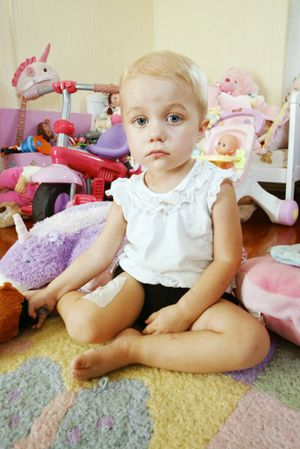 Two-year-old Holly Muhling has leukemia. Photo: David Nielsen / Queensland Times