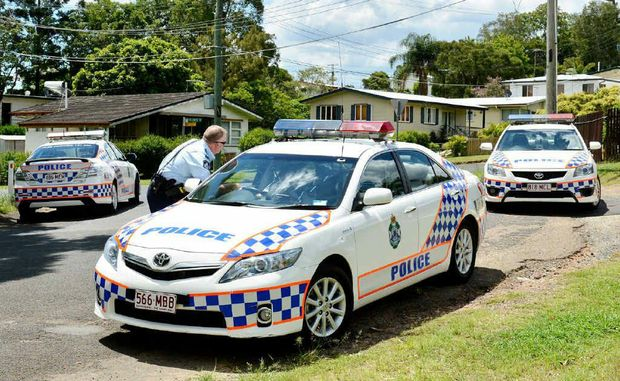 POLICE ALERT: Police block off streets in Bundamba while hunting for a man believed to be armed with a gun.