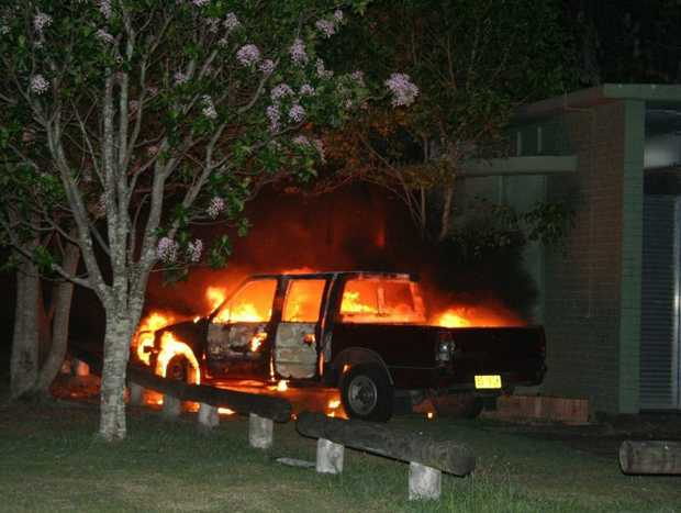 A car was burnt out on the weekend.