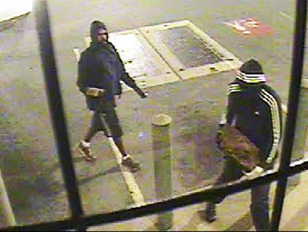CCTV footage of attempted robbers in Fernvale.