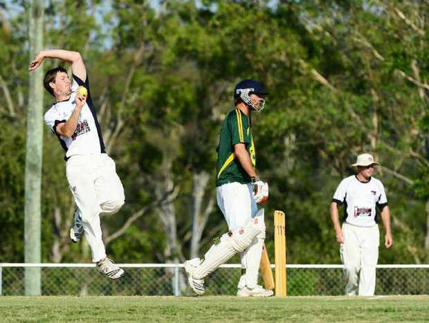 RISING FAST: Laidley fast bowler Michael Topp has veteran teammate Michael Sippel convinced he is destined for big things.