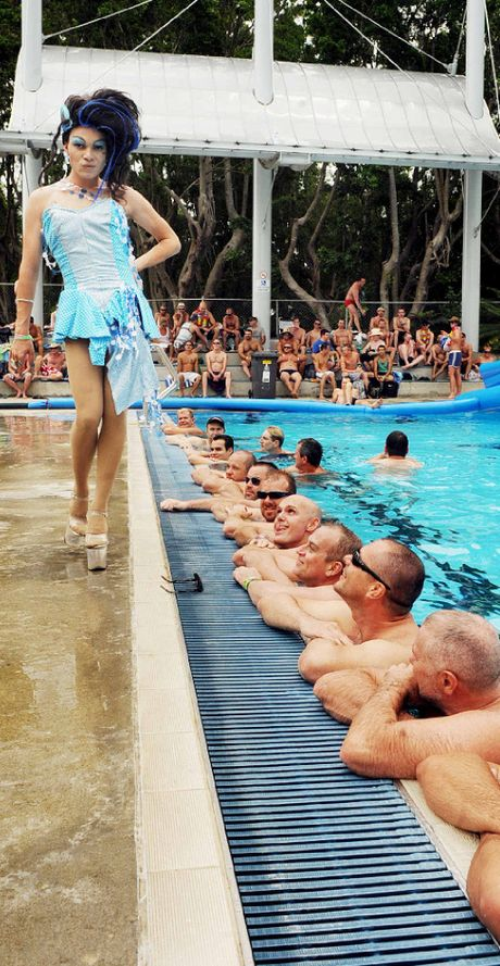 Joshua Cavanagh struts his stuff at Lismore Memorial baths during a previous New Year's Day recovery party.