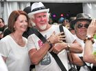 Julia woos the folk at Woodford festival
