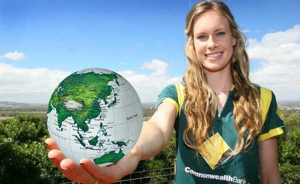OFF TO THE WORLD CUP: Kingaroy's Holly Ferling has the world in her hands after being selected to the Australian women's cricket World Cup squad to play in India.