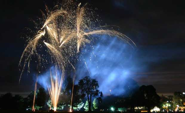 Higgins Storm Chasing photographer Grant Rolph took some impressive images of the the New Year's Eve fireworks display.