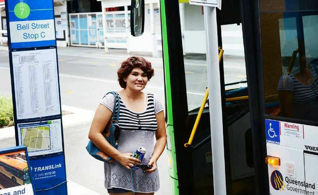 COSTLIER FARE: Hannah Robin, 18, of Raceview, is disappointed Translink is increasing public transport fares.