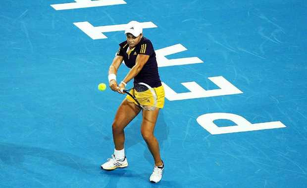 WILDCARD: Ashleigh Barty made her Hopman Cup debut for Australia against Germany's Andrea Petkovic in Perth on Saturday.