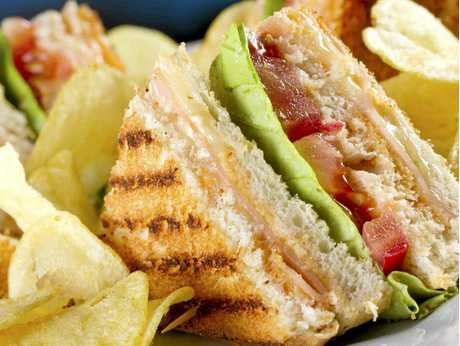 Swap a toasted club sandwich (2160kj) for a cream cheese and smoked salmon bagel (1700kj).
