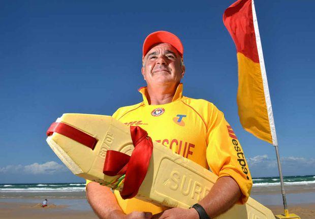 LONG WAY FROM TIPPERARY: Irishman Noel Hogan has earned his bronze medallion and will be on patrol at Peregian Beach.