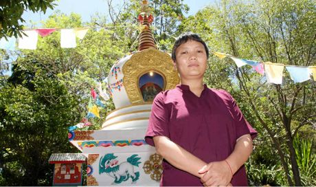 SCHOOL OF THOUGHT: Dr Ani Nyidon, at Chenrezig Institute, Eudlo, is keen to share her knowledge of authentic Tibetan medicine.