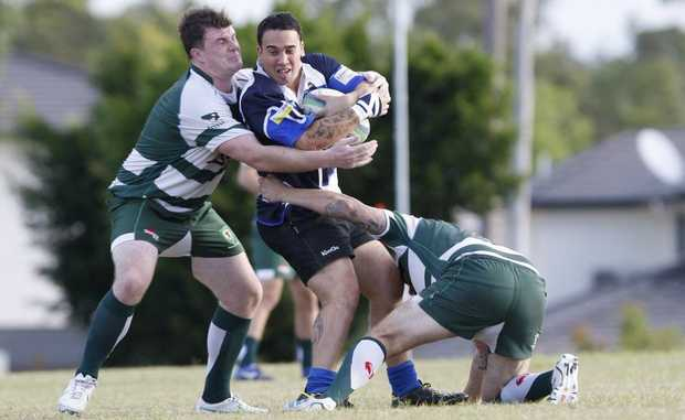 Springfield Lakes Hawks v Ipswich Rangers Barber cup rugby union on Saturday. Photo: Sarah Harvey / The Queensland Times