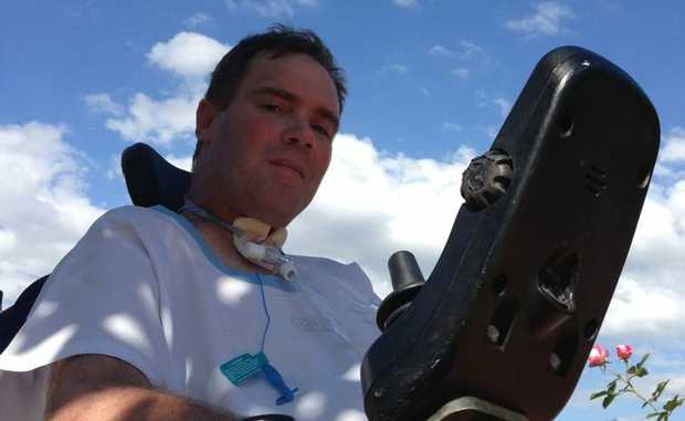 Roma man Garry Alexander and his family hope to raise enough funds so he can return home.