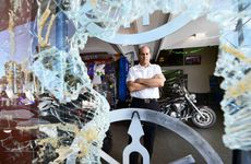 HIT AGAIN: Des Court owner of Top Gun Yamaha is furious after a recent robbery at his Bundamba motorcycle store.