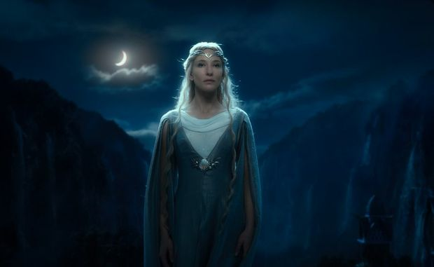 Cate Blanchett in a scene from The Hobbit: An Unexpected Journey.