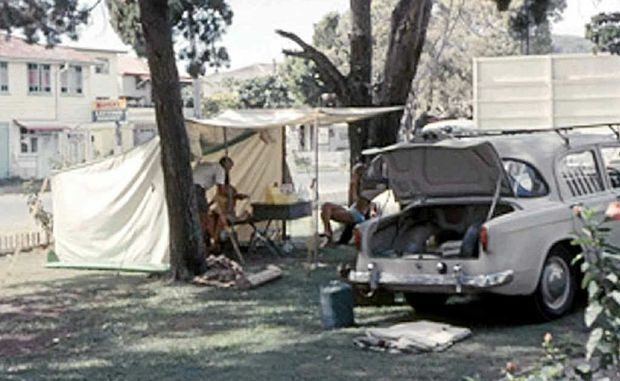 Camping at Noosa Heads during Christmas, 1964