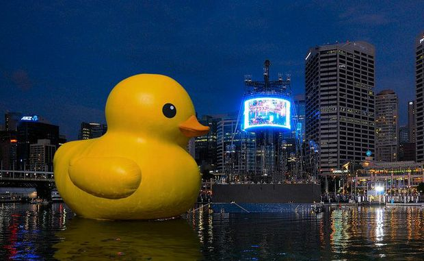 The six-storey recreation of the bath time favourite will form the centrepiece of the Sydney Festival opening celebrations.