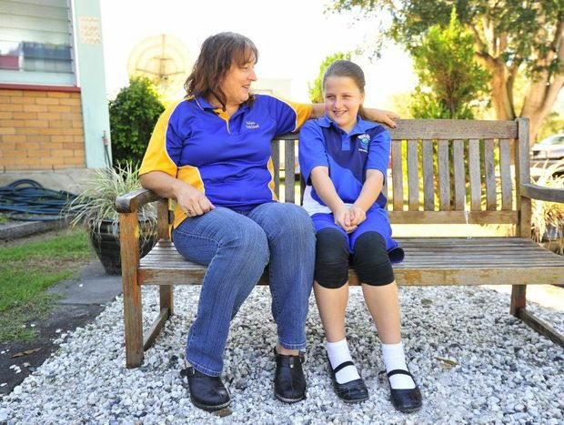 Mary Marriage and daughter Madisson Marriage, 11, love living in Buiylan, in the Boyne Valley south of Gladstone.