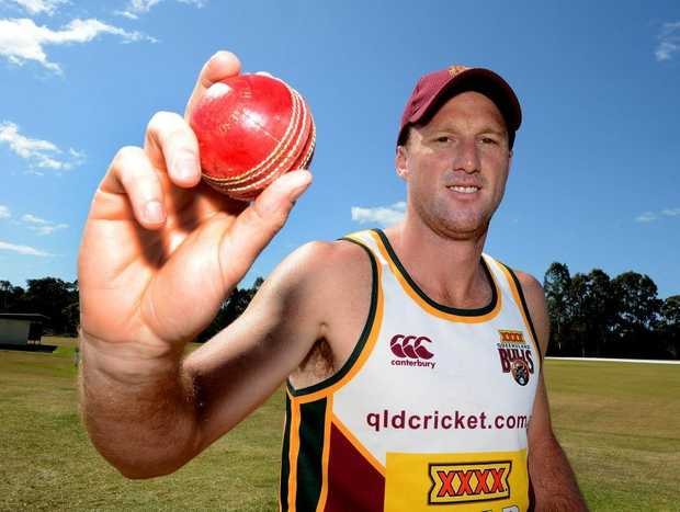 Queensland Bulls cricket team play at practice match at the Maroochydore Cricket Club. Matthew Gale is looking forward to getting back on the field.