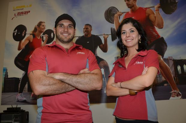 ON THE UP: Personal trainer Joel Wolski and Bri Costanzo said enquiries and gym sign ups are on the rise  as locals make their resolutions a reality.
