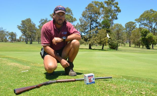 Warwick Golf Club course superintendent Craig Cox has his permits to use Birdfrite to scare away corellas.